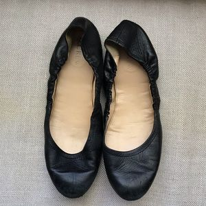 J crew leather ballet flats size 8